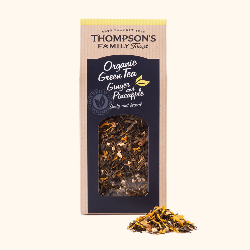 Thompson's Organic Green Tea Ginger and Pineapple